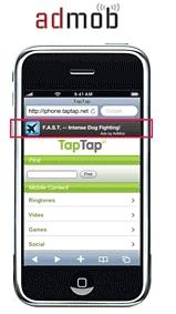 admob iphone mobil reklamcılık