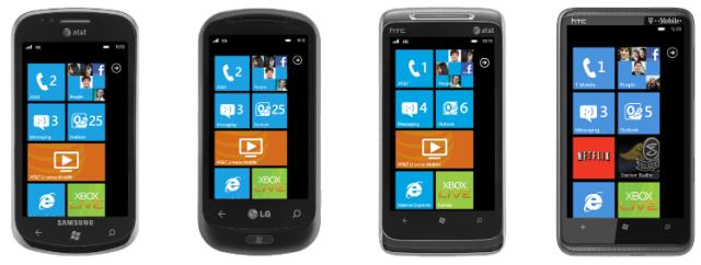 Windows Phone 7 SmartPhones