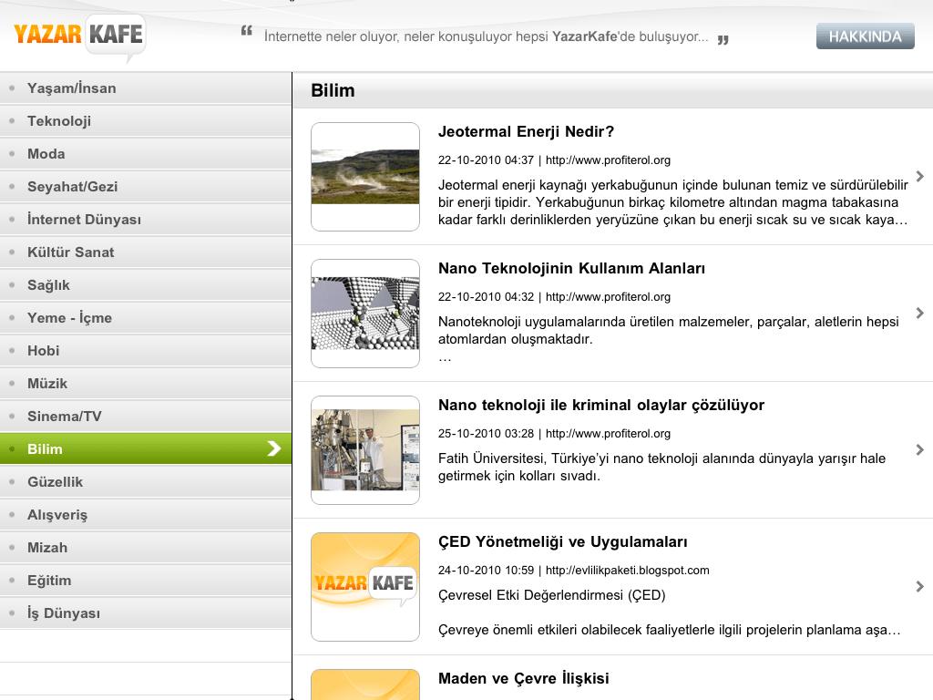 YazarKafe iPad