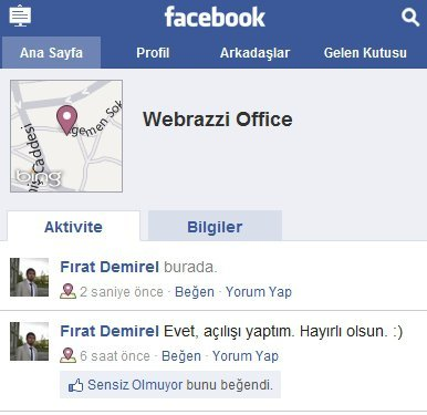 Facebook Yerler Places Webrazzi