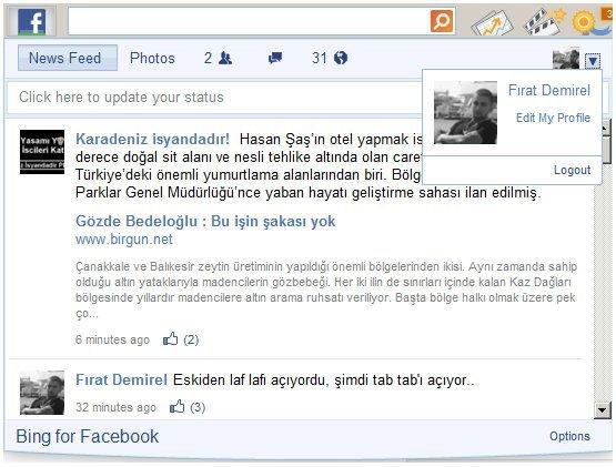 Bing Bar Facebook