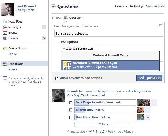 Facebook Sorular