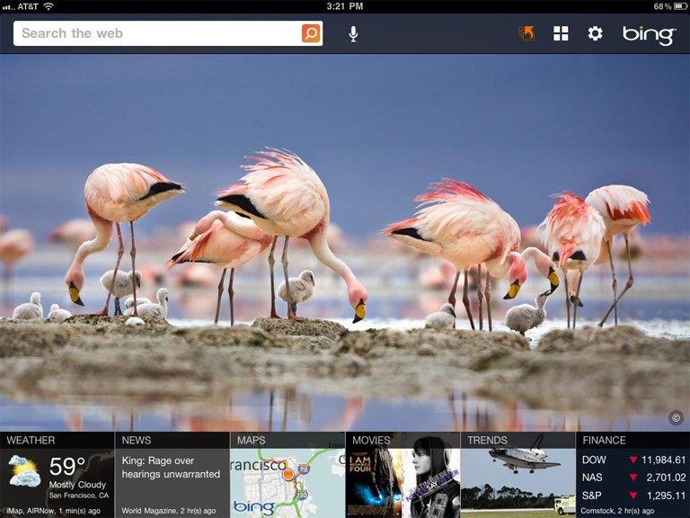 Bing for iPad