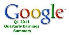 Google 2011 İlk Çeyrek Gelirleri