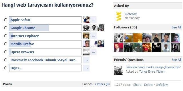 Anketi Facebook'ta görmek için tıklayın.