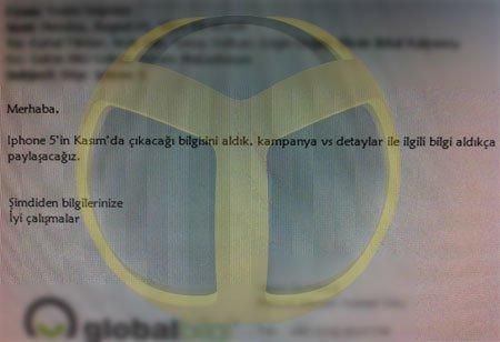 ShiftDeleteNet'in Ele Geçirdiği Eposta Ekran Görüntüsü