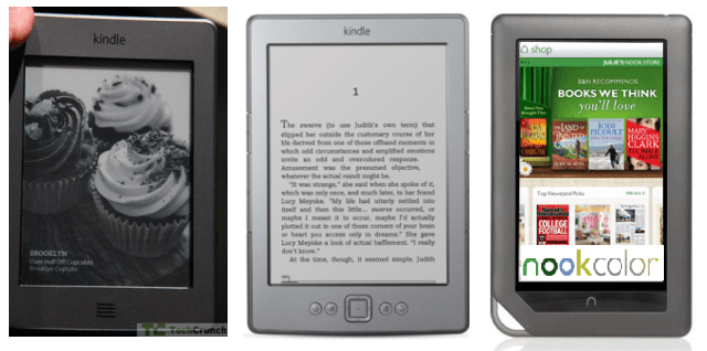 Kindle - Nook Color