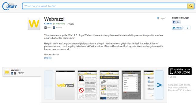Quixey Webrazzi