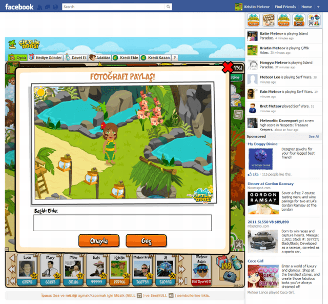 Çiftlik Adası - Peak Games, Meteor Games