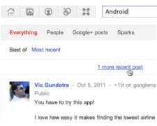 Google Plus Gerçek Zamanlı Arama