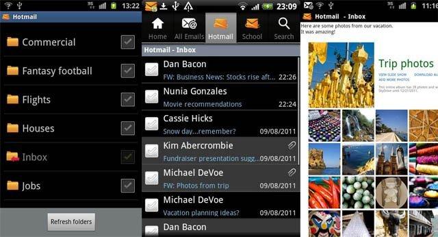 Hotmail Android Uygulaması