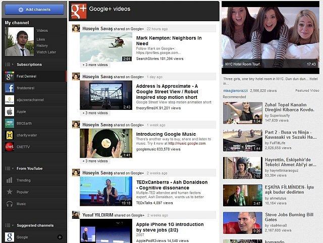 Yeni Youtube'da Anasayfanız