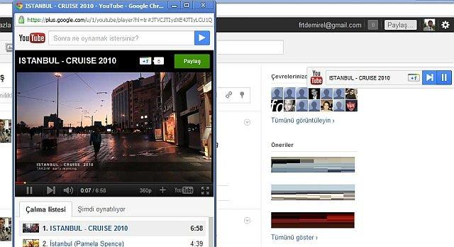 Google Plus Youtube Arama Çubuğu