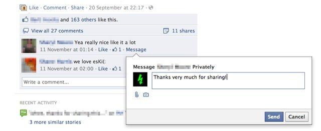 Facebook Sayfalarına Özel Mesaj Özelliği Geliyor