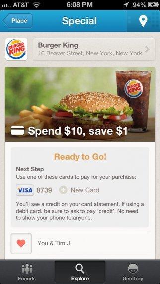 Foursquare - Burger King