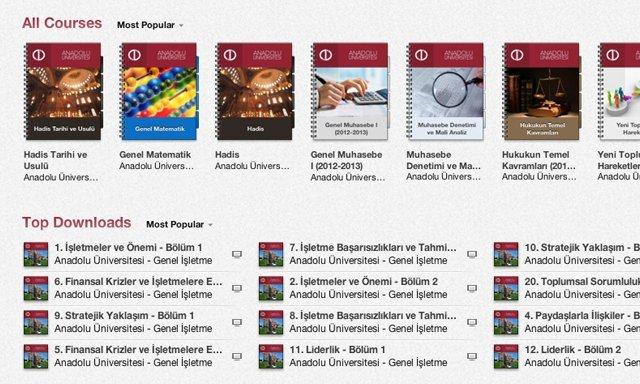 Anadolu Universitesi iTunes U