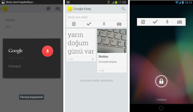 google keep android uygulamasi