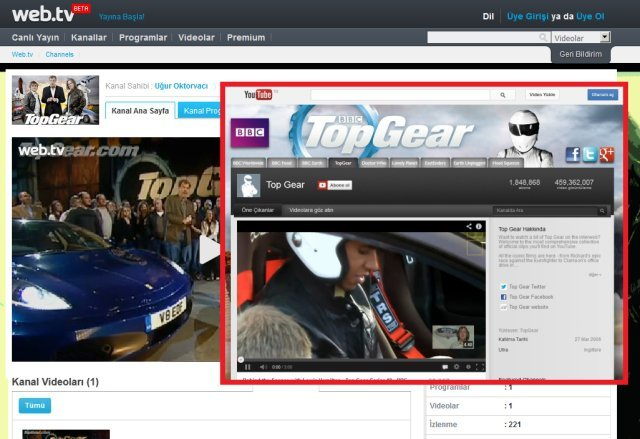 web.tv top gear kanal