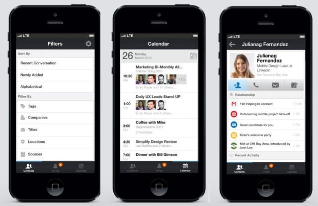 linkedin contacts iphone ios