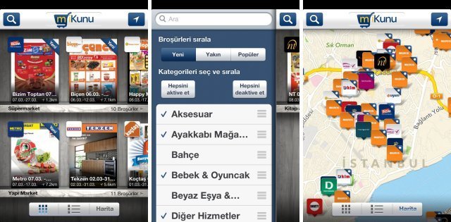 mikunu market brosuru iphone uygulamasi