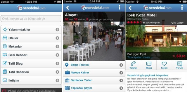 neredekal iphone android mobil uygulama