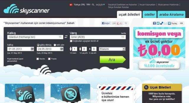 skyscanner com ucak bileti