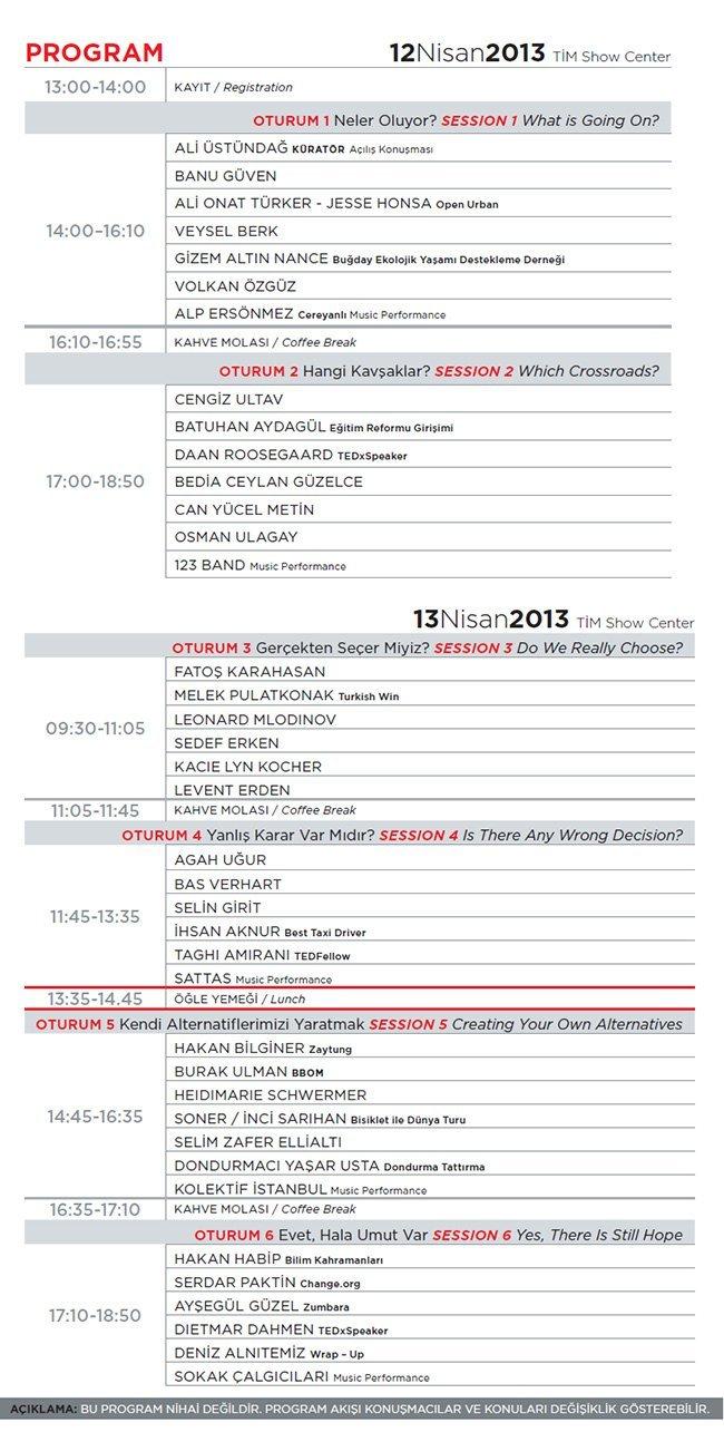 TEDxReset programı