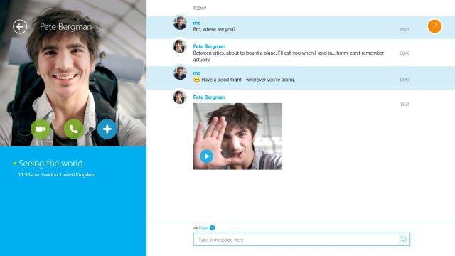 skype windows 8 uygulaması microsoft