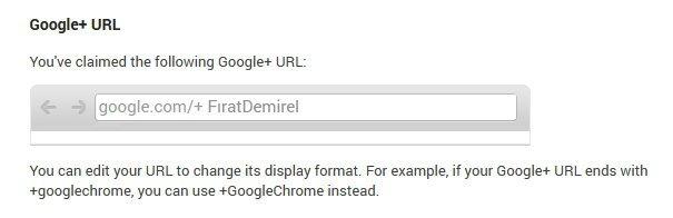 google plus url kullanici adi