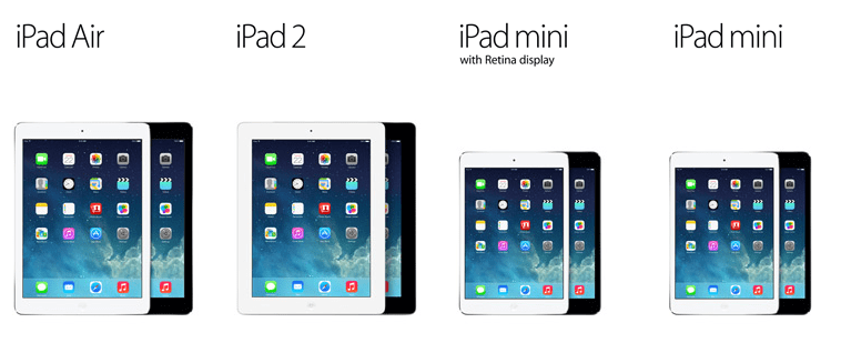 ipad air-ipad 2-ipad mini 2-ipad mini