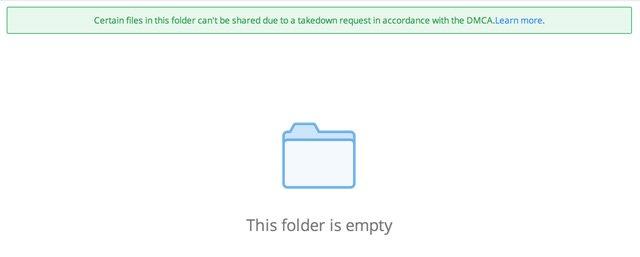 Dropbox kullanıcıların hesaplarındaki telif hakları korunan dosyaları otomatik olarak siliyor mu?