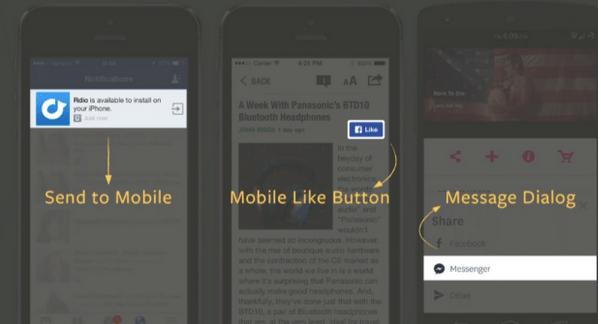 mobil beğen facebook