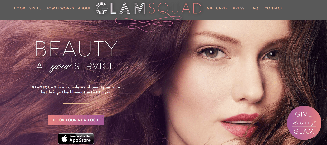GlamSquad ekran