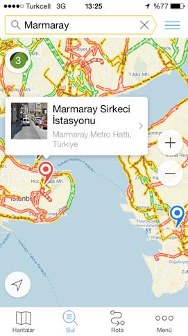 Yandex Haritalar iOs uygulamasi(3)