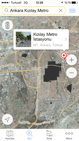 Yandex Haritalar iOs uygulamasi(4)