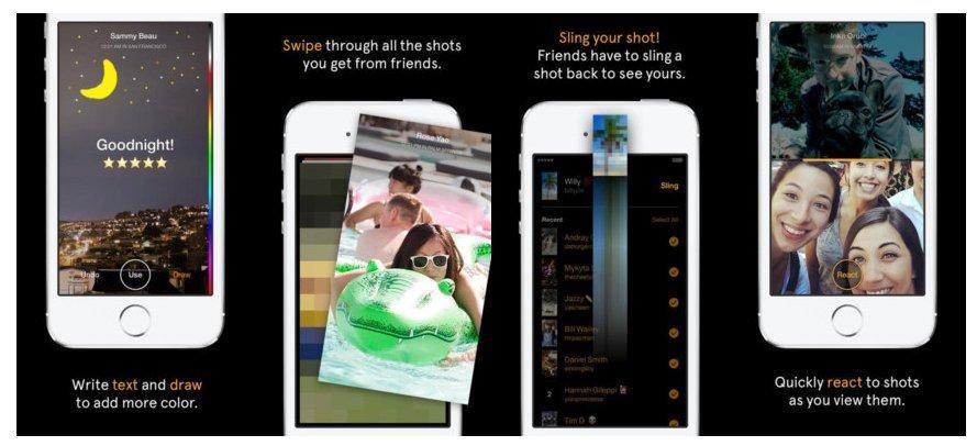 Slingshot Facebook Snapchat