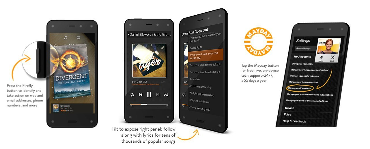 amazon fire phone akilli telefon ozellikler fiyat
