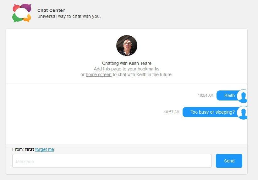 chat center uygulamasi