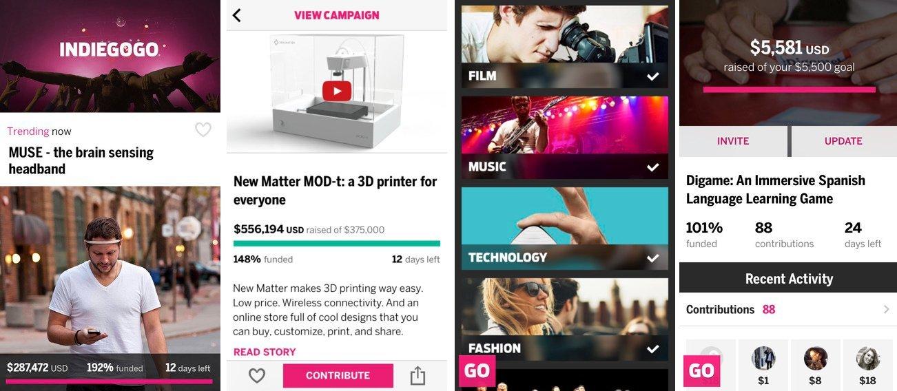 indiegogo iphone uygulamasi kitlesel fonlama
