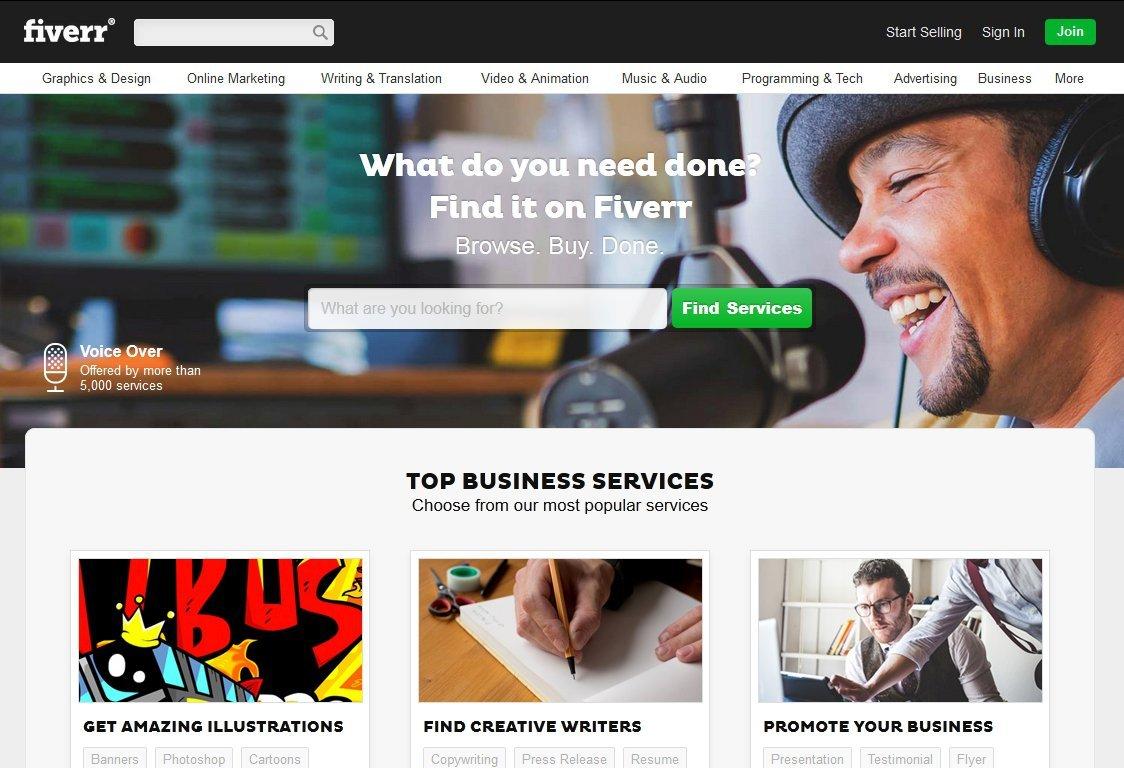 fiverr.com 5 dolara is yaptir ucuza