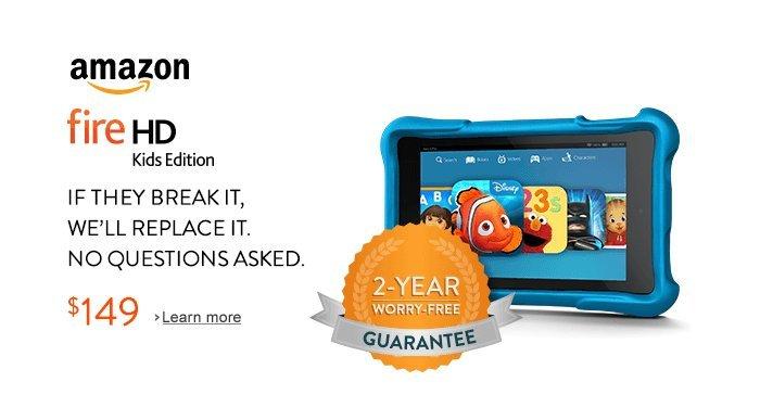 amazon kindle fire hd kids cocuklara ozel tablet