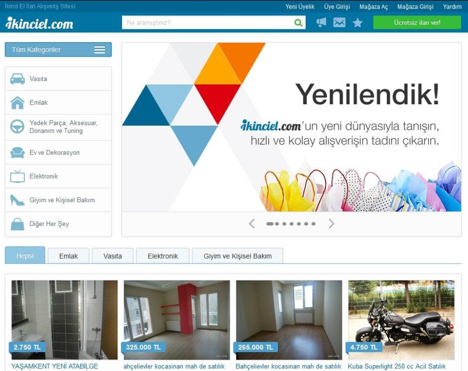 ikinciel.com ucretsiz ilan sitesi