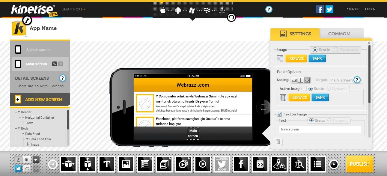 kinetise mobil uygulama gelistirme capraz platform 2