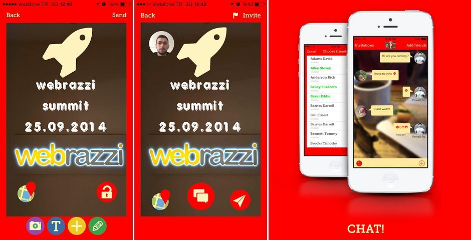 lets app etkinlik daveti calide
