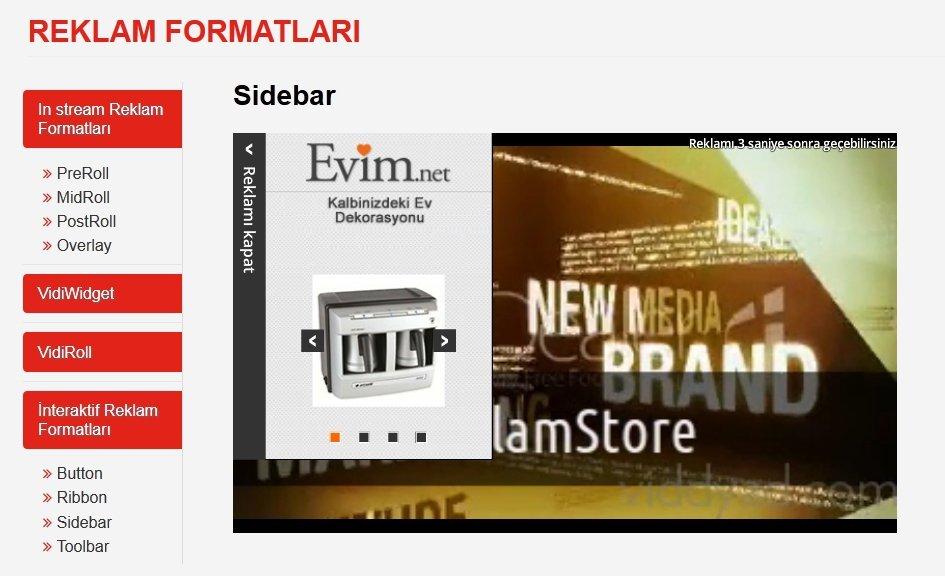 reklamvidi reklamstore reklam formatlari
