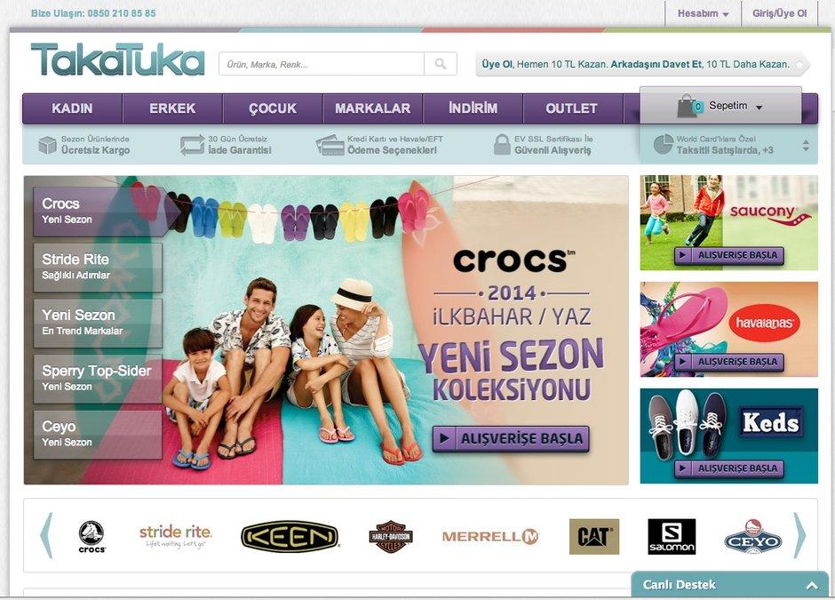 TakaTuka ayakkabi e-ticaret