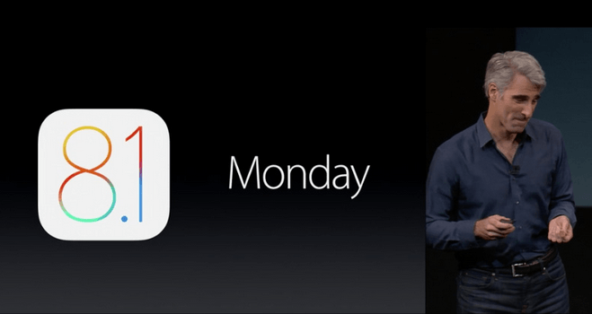 Apple iOS 8.1 guncellemesi