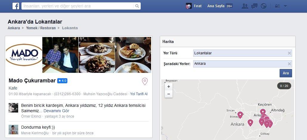ankara facebook mekanlar