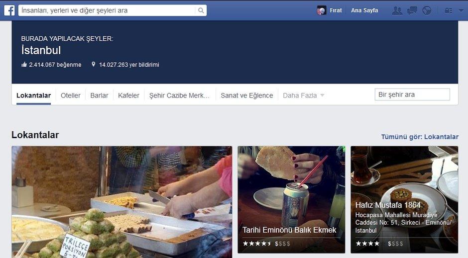facebook mekanlar places yerler