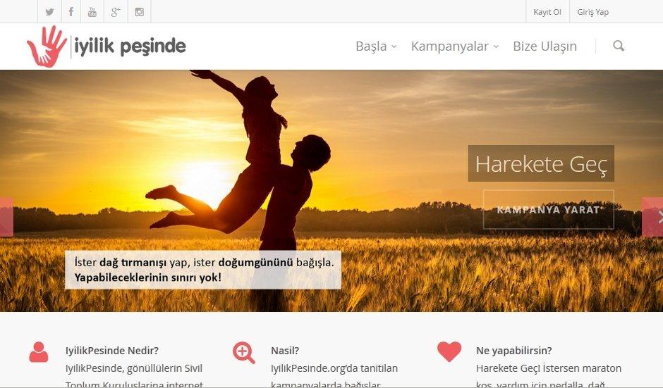 iyilikpesinde.org online bagis sertac tasdelen